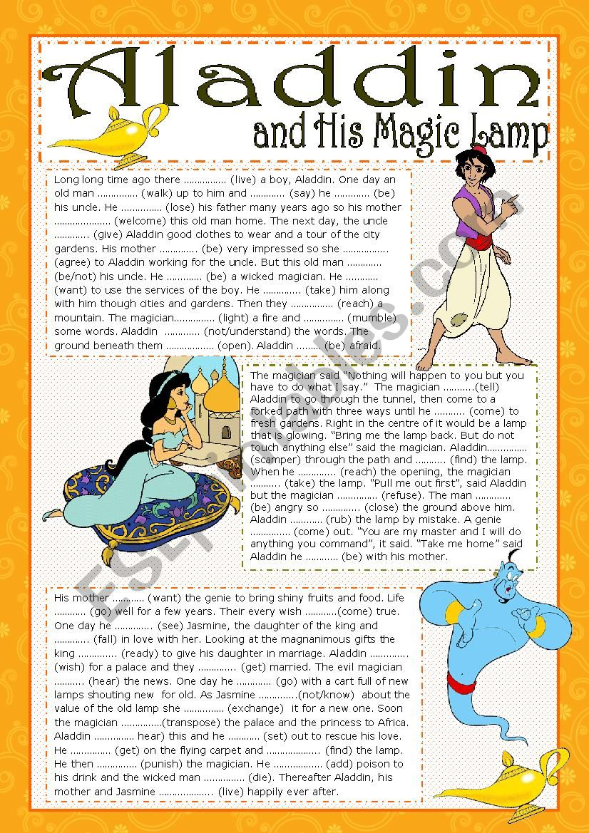 ALADDIN AND HIS MAGIC LAMP (editable)
