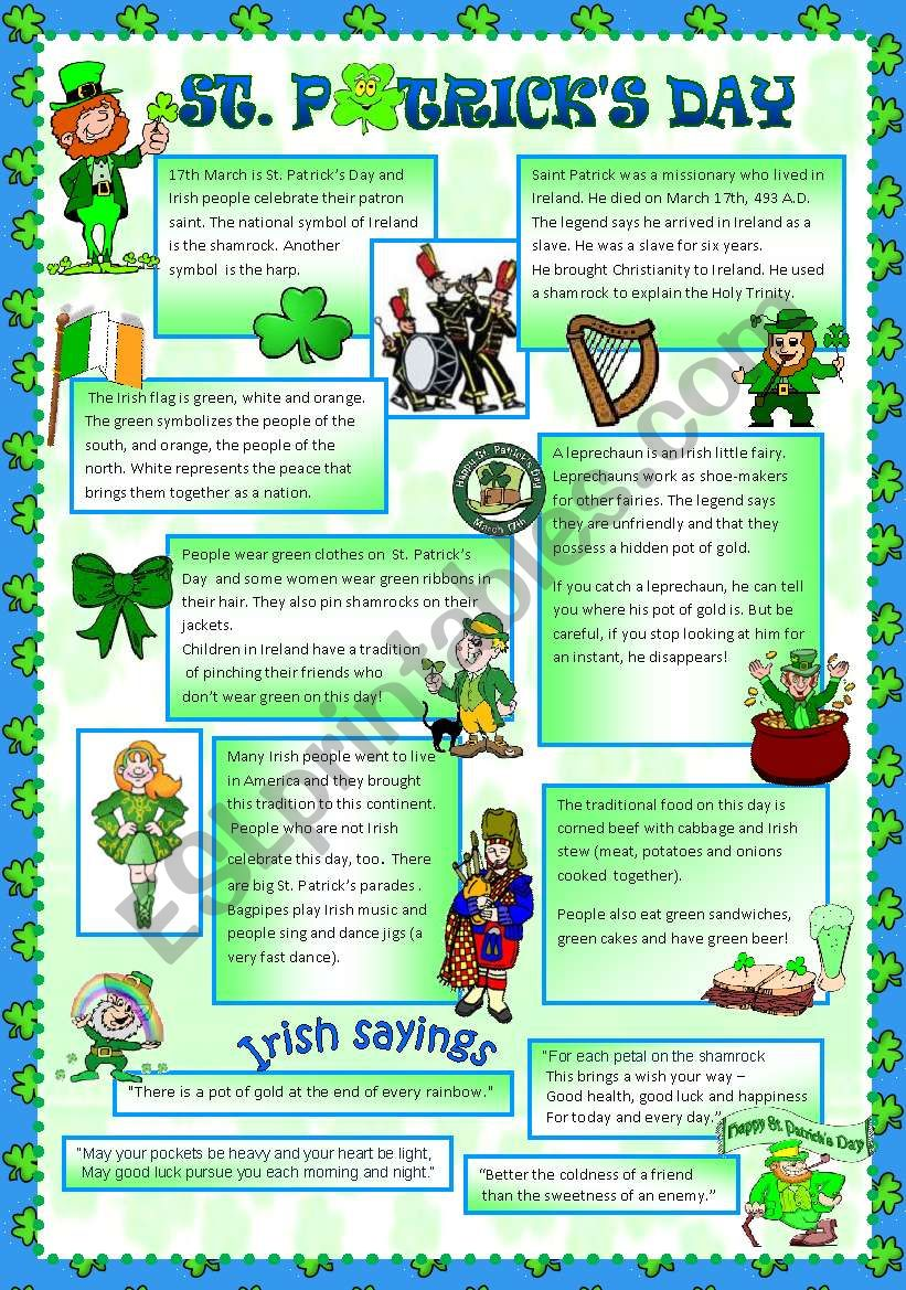 ST PATRICK´S DAY worksheet