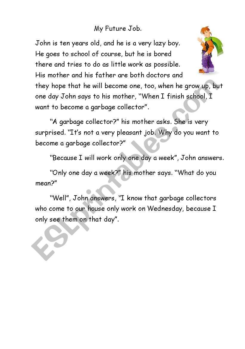 My future job worksheet