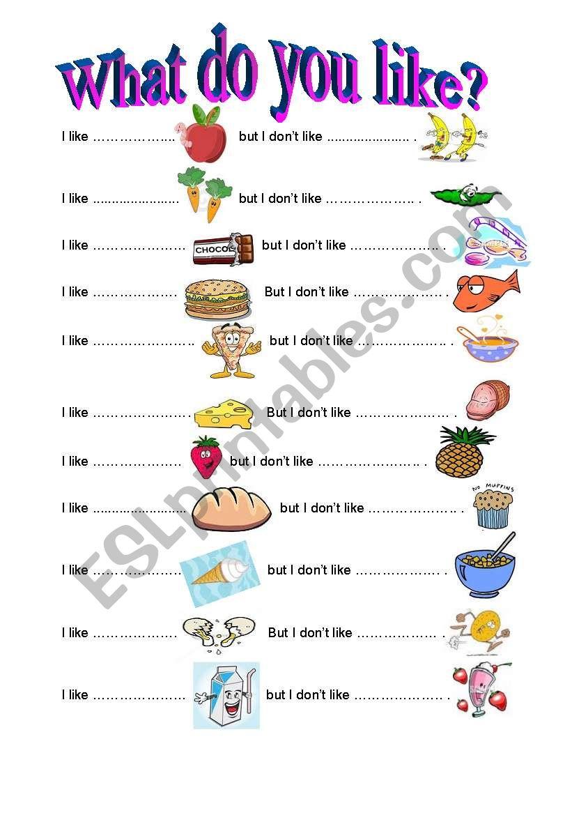 food - ESL worksheet by darderm