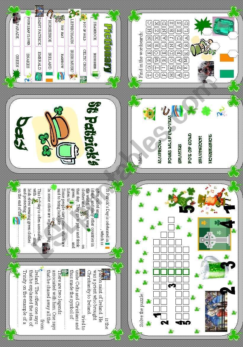 Saint Patrick´s Day - minibook