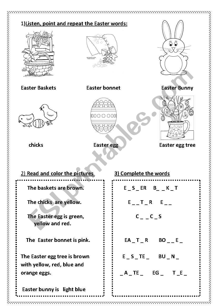 Easter for very young learners