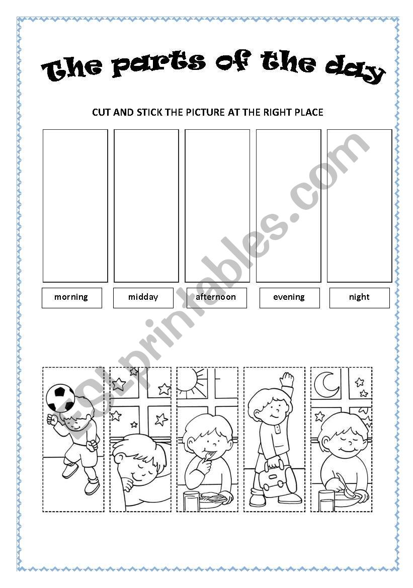the part of the day esl worksheet by paola81. Black Bedroom Furniture Sets. Home Design Ideas