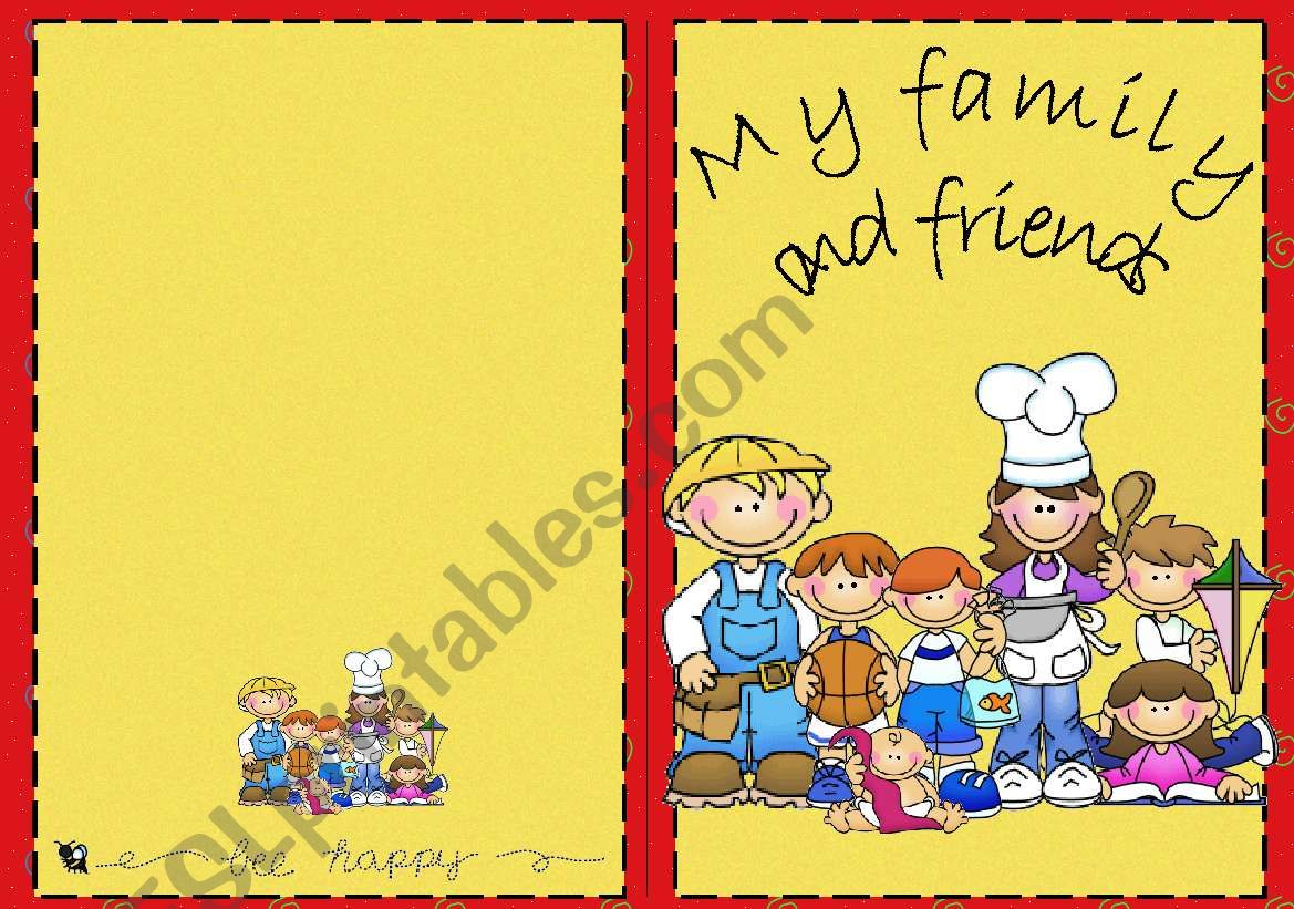 Book: My family and friends worksheet