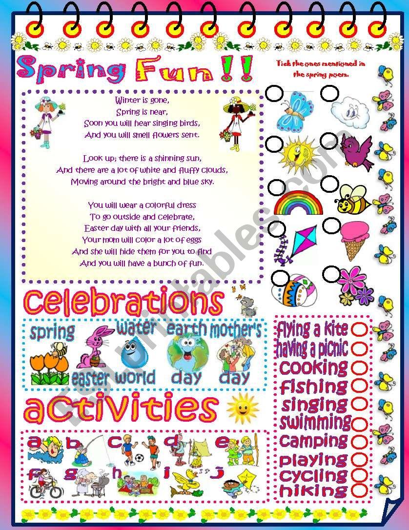 Spring fun!! worksheet