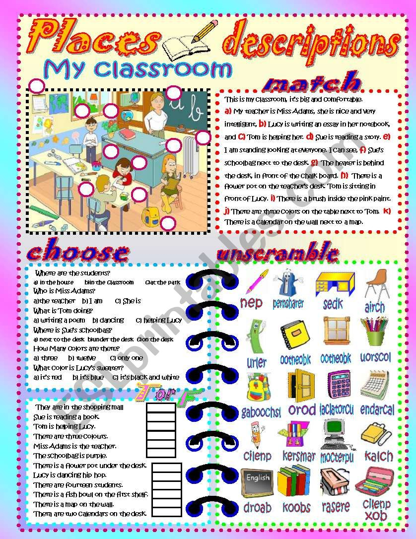My classroom! worksheet