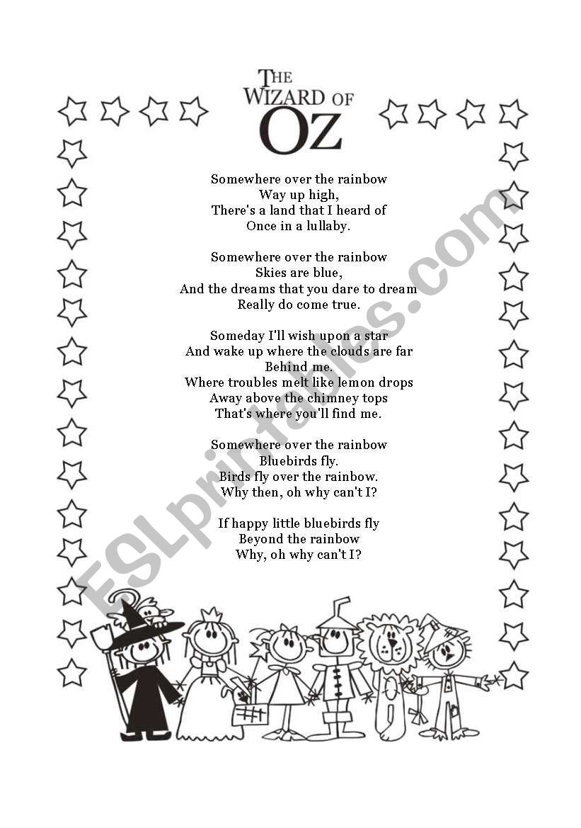 THE WIZARD OF OZ 14 ESL worksheet