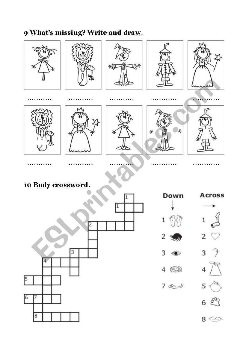 THE WIZARD OF OZ - 2/4 worksheet