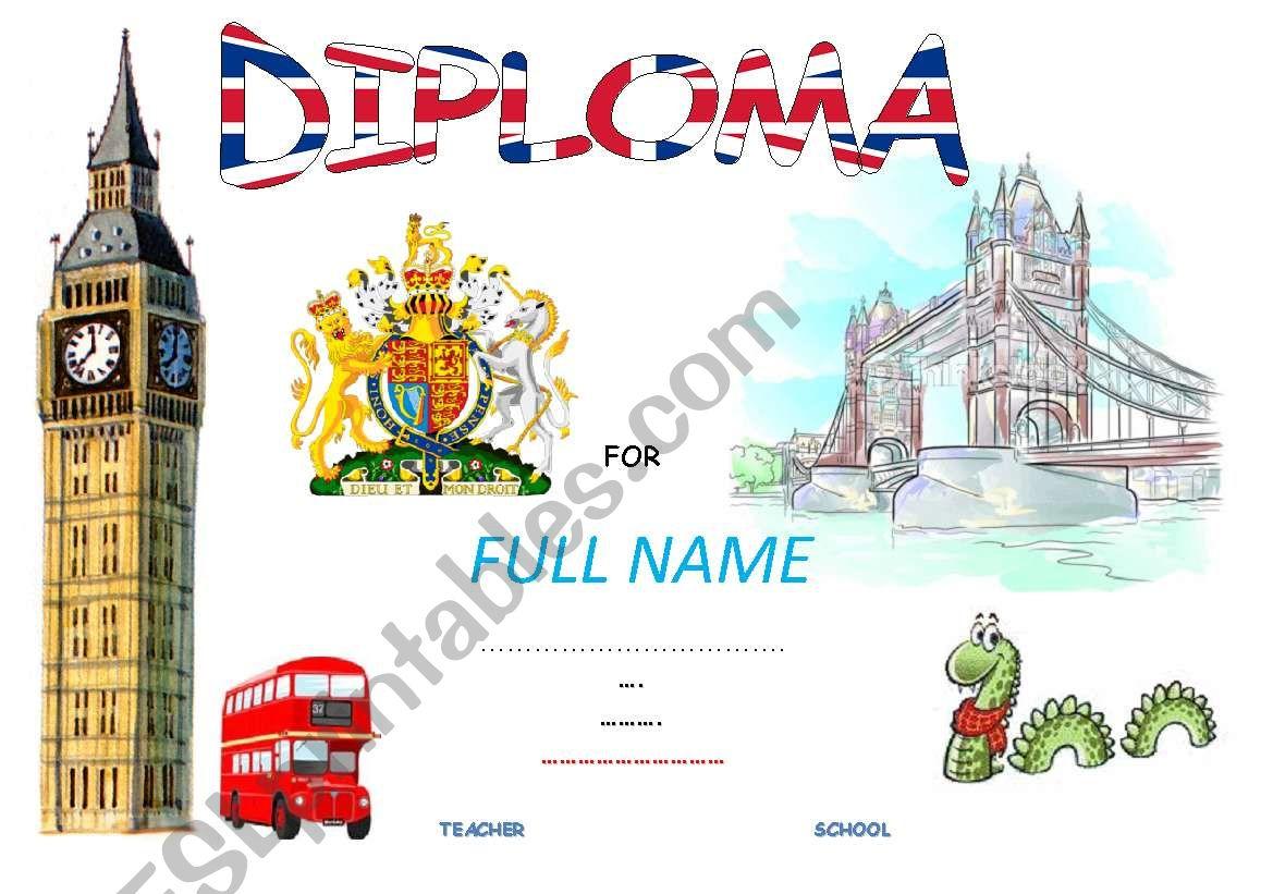 DIPLOMA worksheet