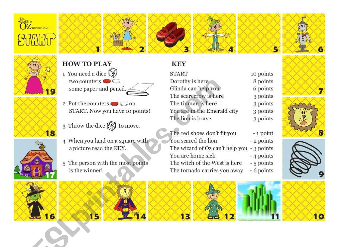 The Wizard of Oz Board Game - 4/4