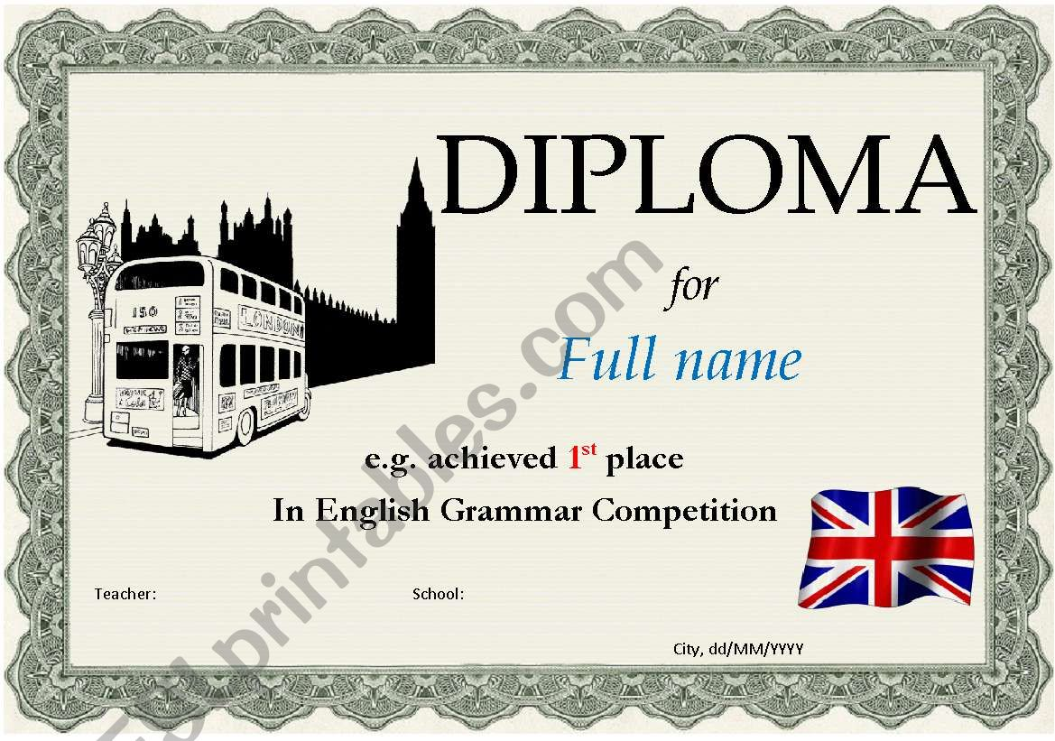Diploma 2 worksheet