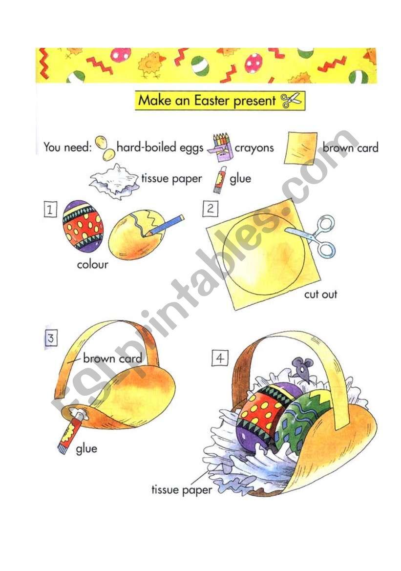 Make easter present worksheet