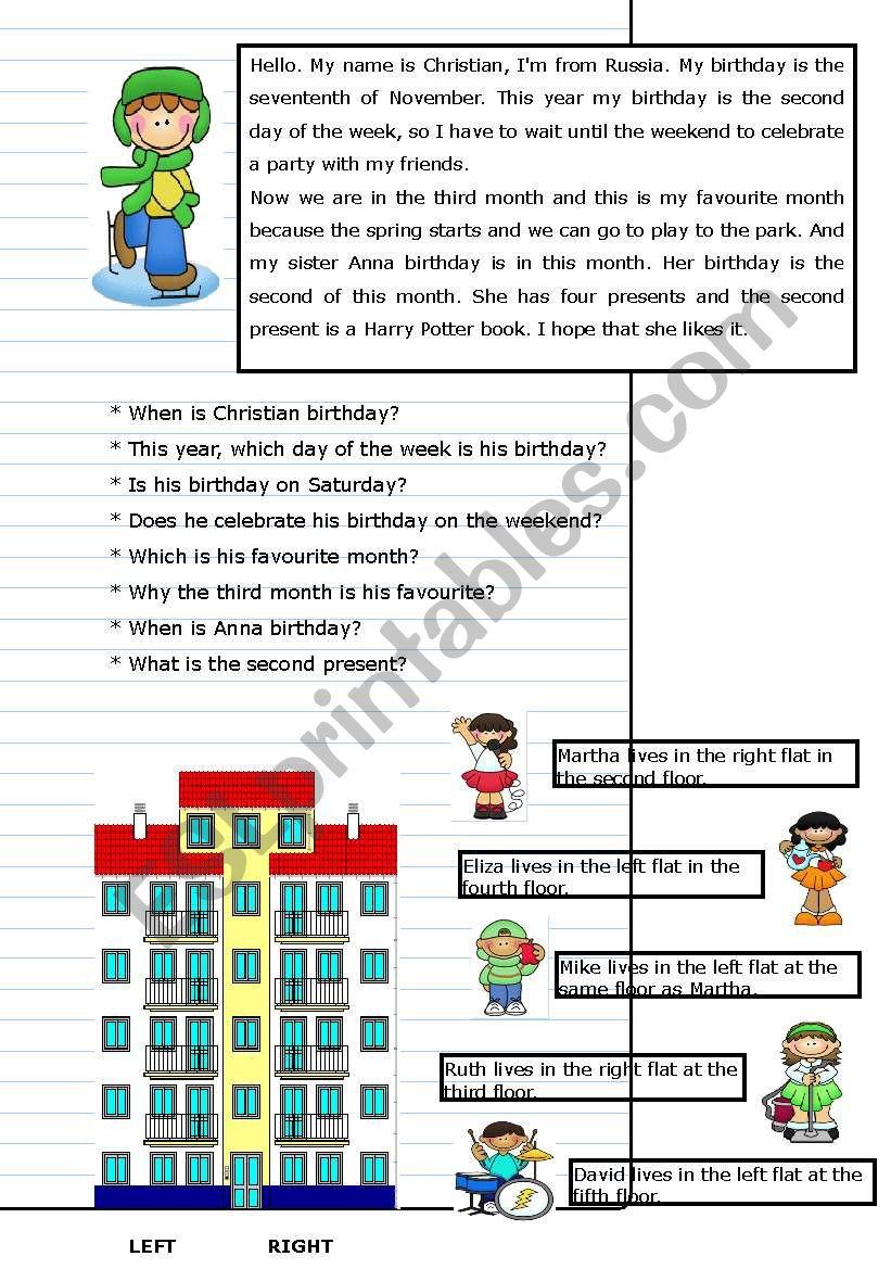 ordinals part 2 worksheet