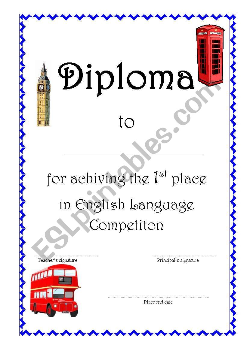 Diploma worksheet