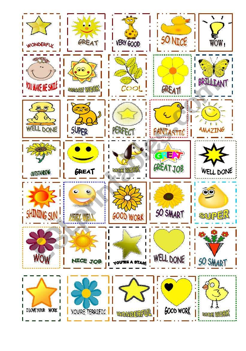 colorful stickers worksheet