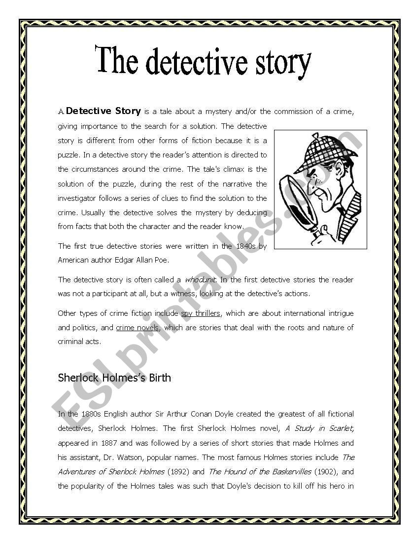 THE DETECTIVE STORY