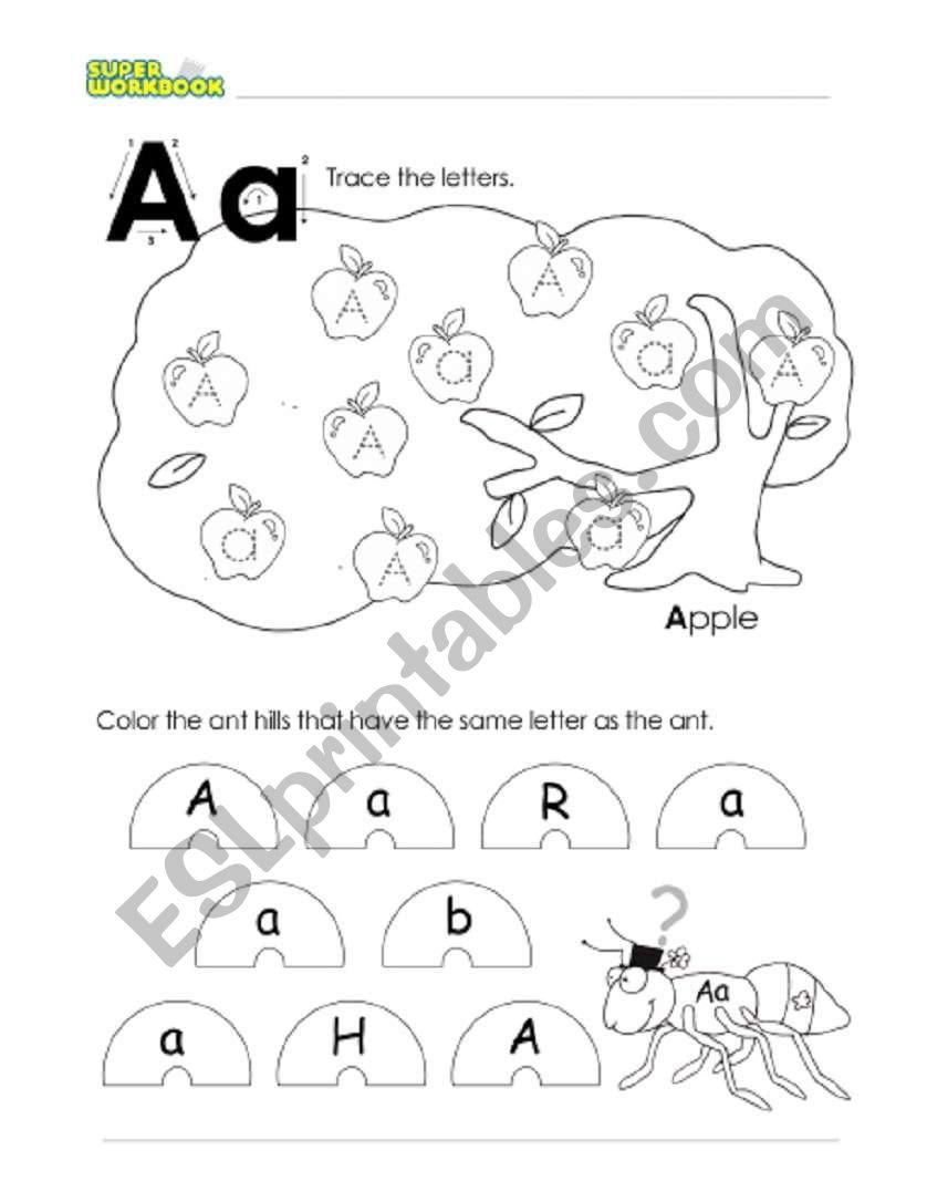 Letter Aa - ESL worksheet by titser_adit