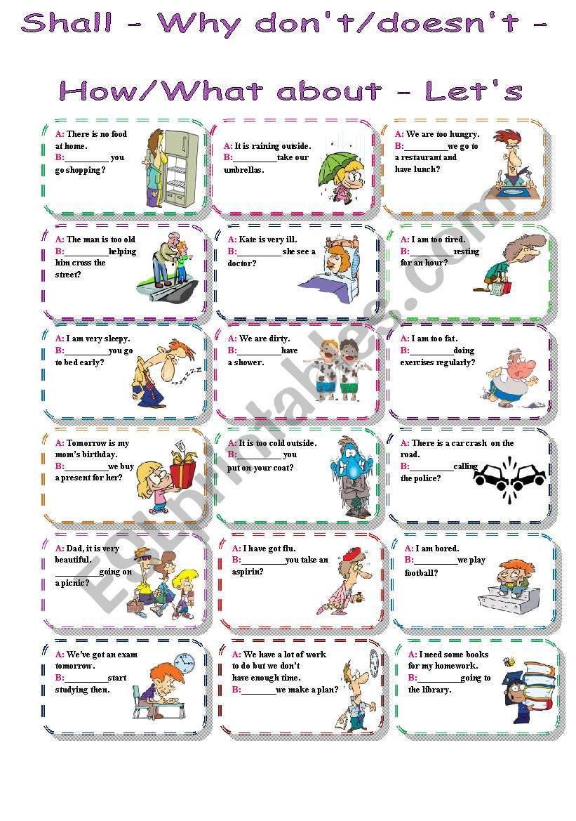 suggestions worksheet