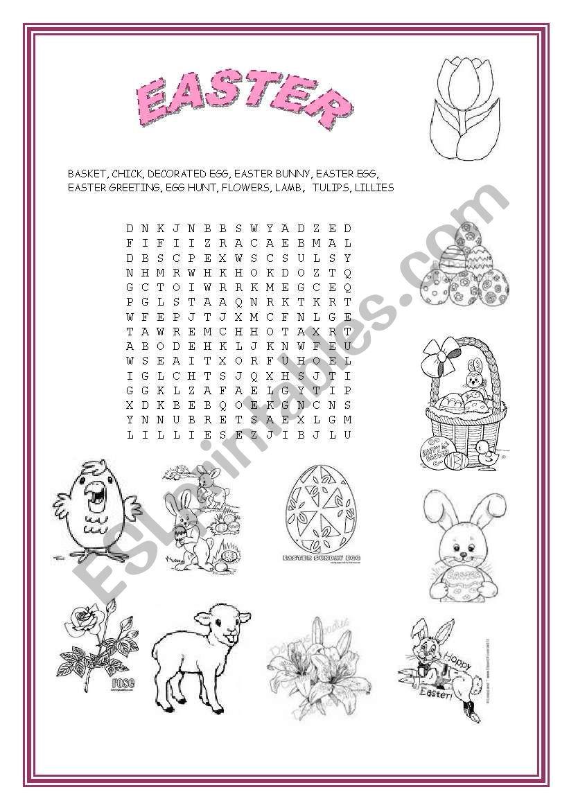 EASTER SYMBOL WORDSEARCH worksheet
