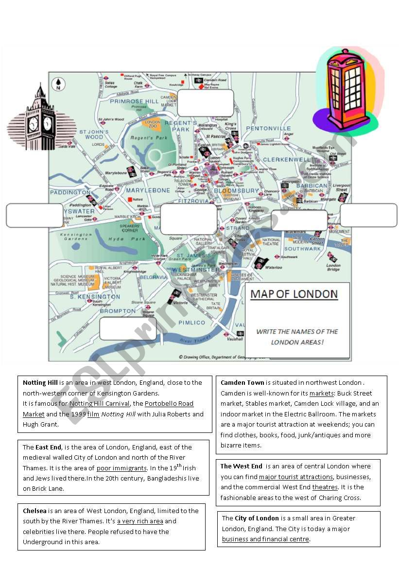 Let´s visit London! (2/4) Part 2 - Worksheet