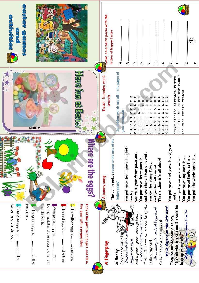 Easter fun activities worksheet