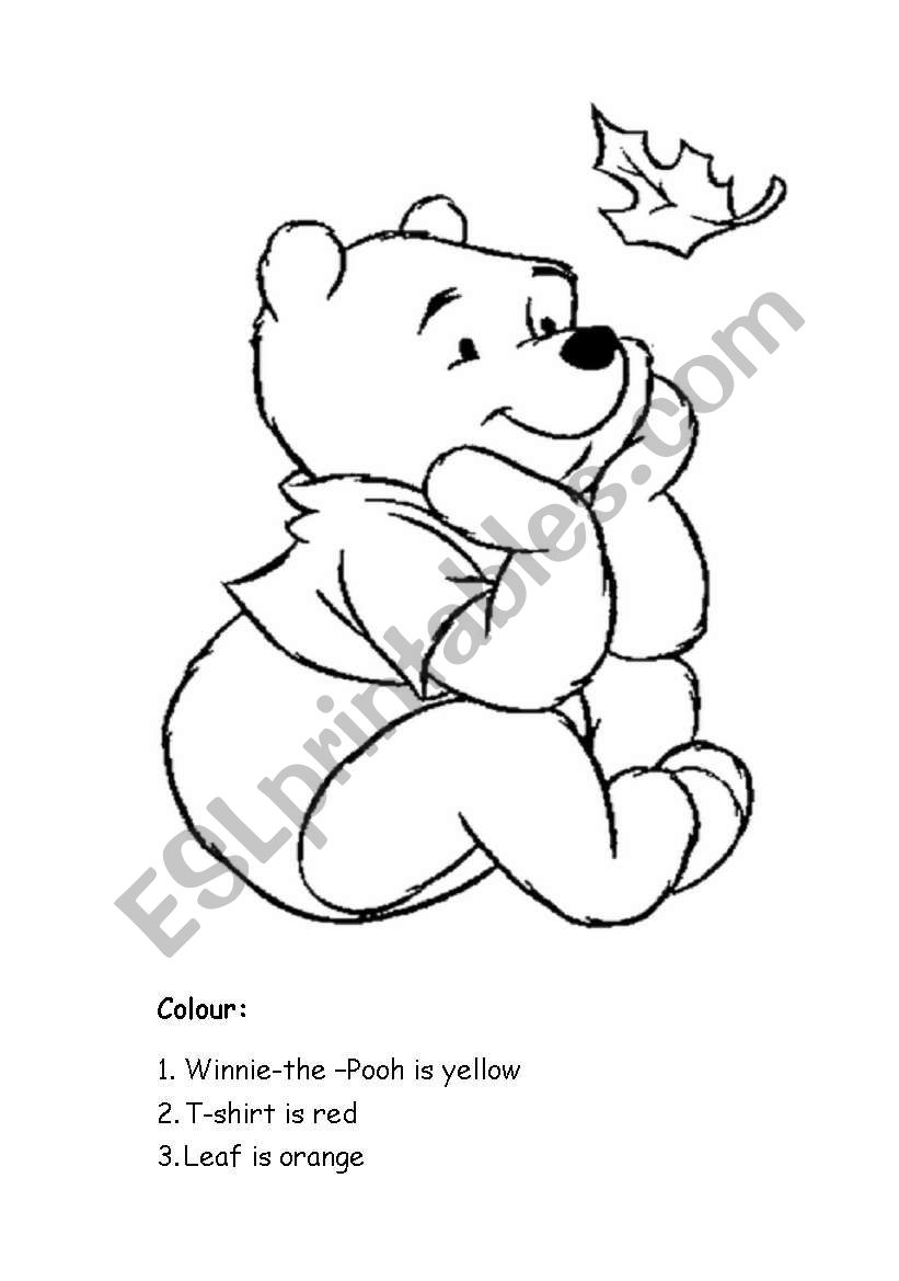 Winnie-the Pooh worksheet