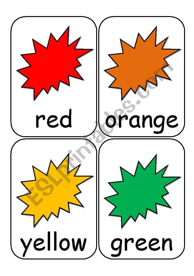 Colour Flashcards worksheet