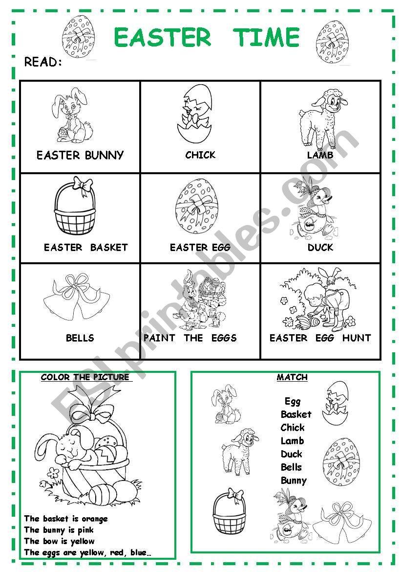 EASTER TIME worksheet