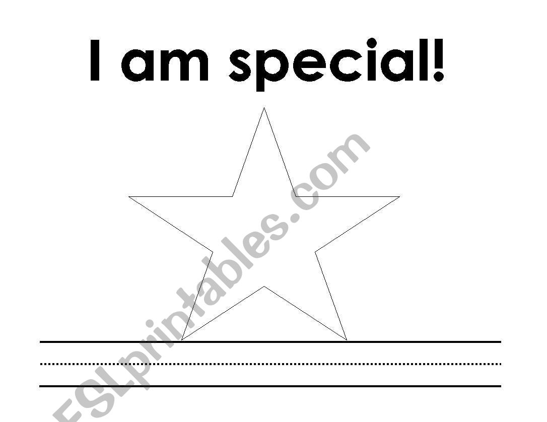 I am special (An all about me booklet)