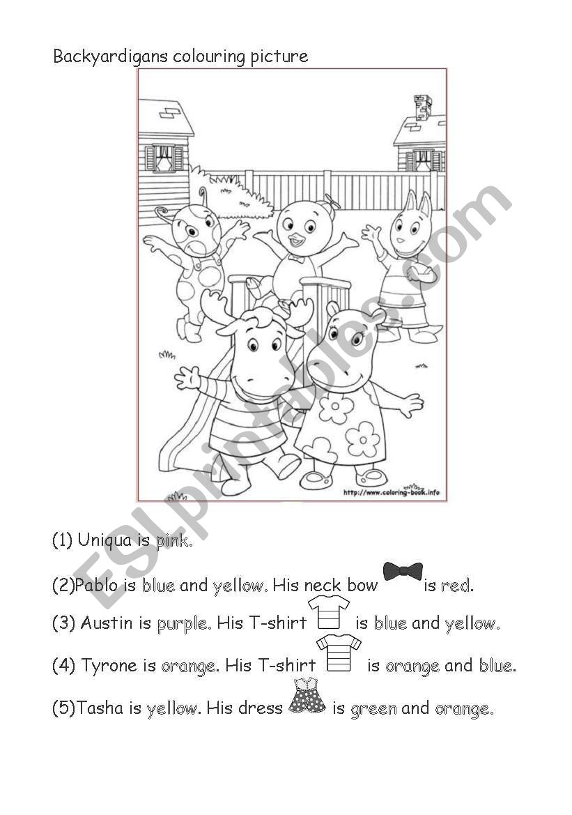 Backyardigans Colouring Picture