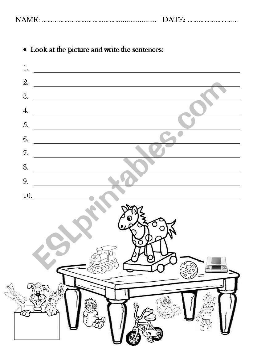 In On Under Esl Worksheet By Esther Diago