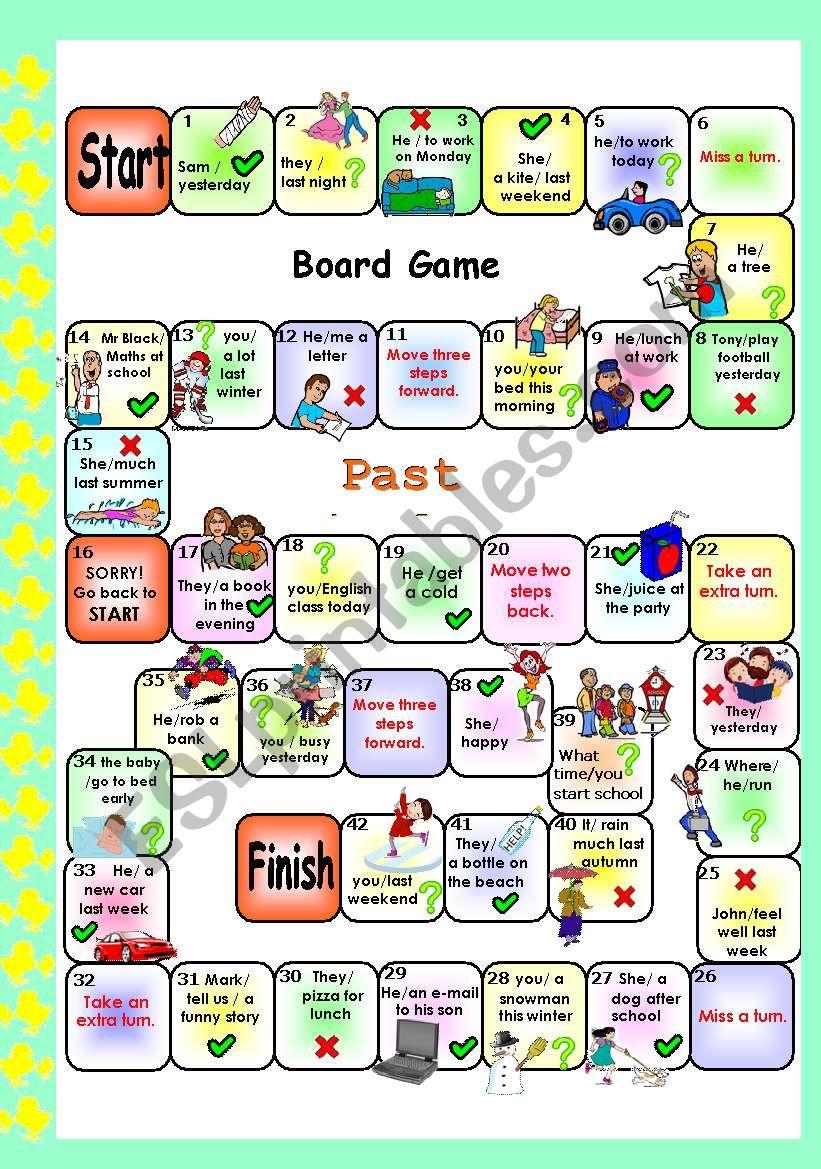 PAST SIMPLE SET 3 . BOARD GAME # regular /irregular verbs # editable