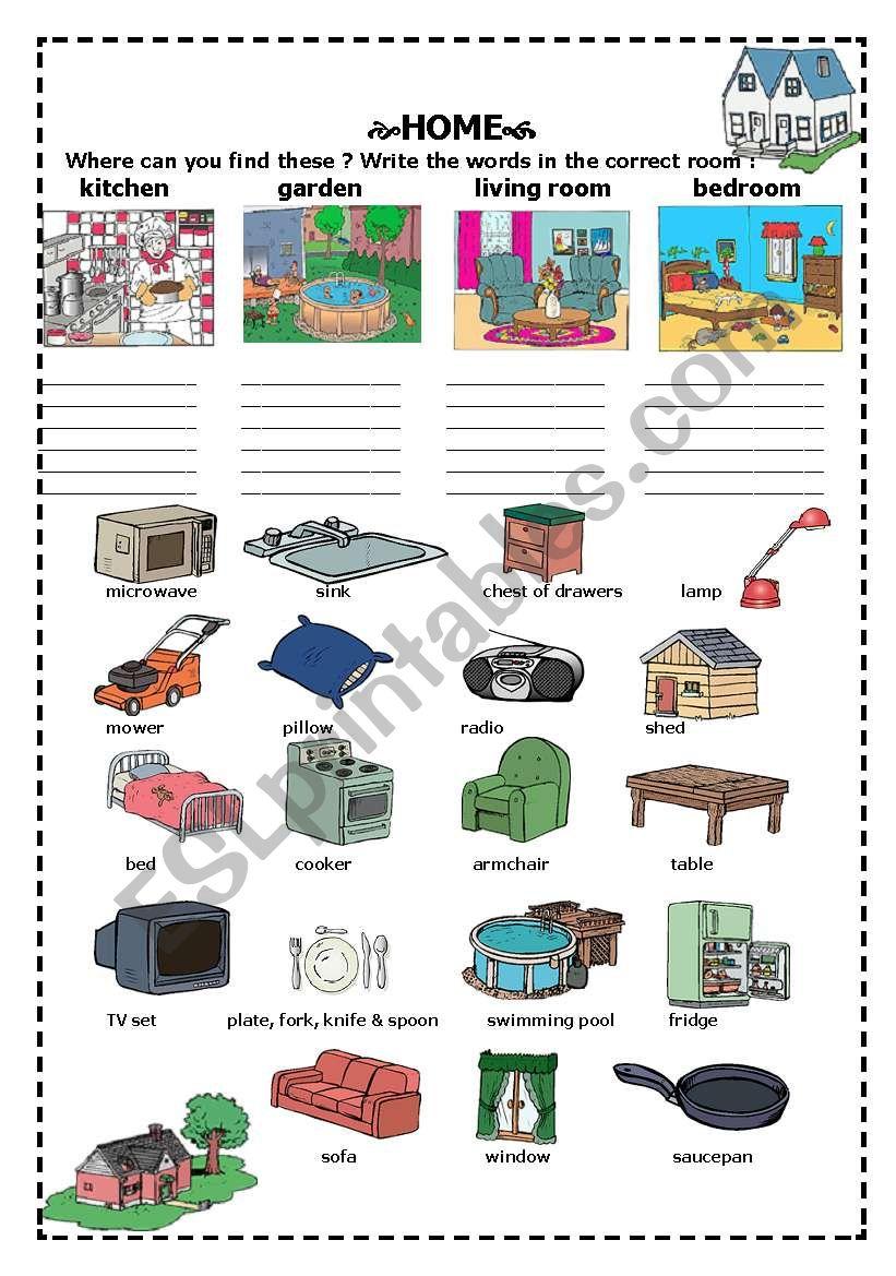 home worksheet