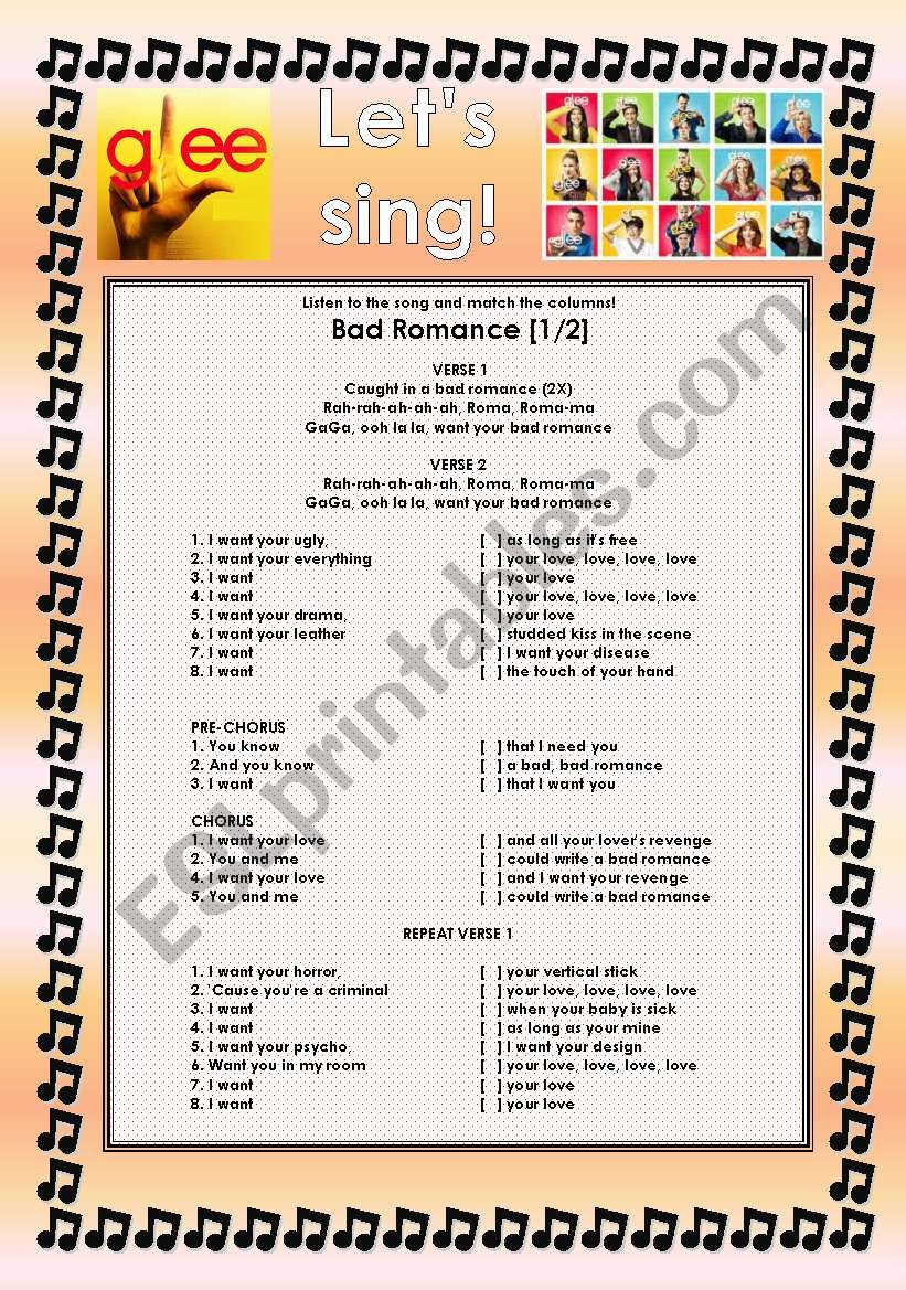 GLEE SERIES  – SONGS FOR CLASS! S01E20 – TWO SONGS – FULLY EDITABLE WITH KEY! – PART 1/2
