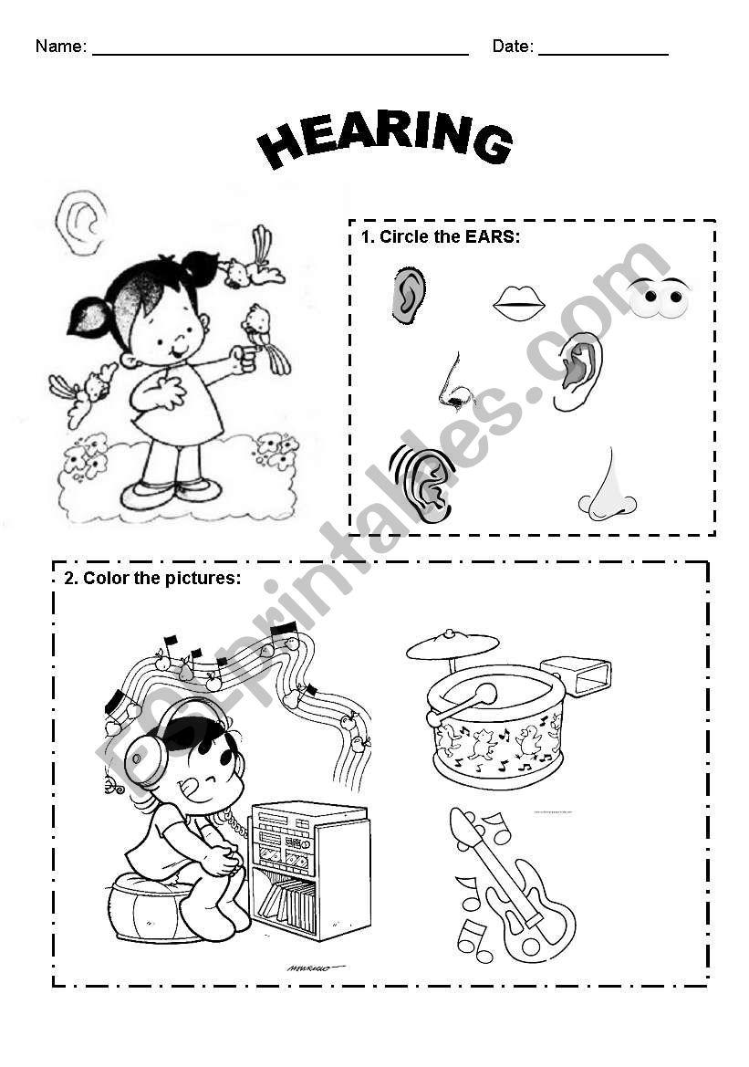 worksheet Hearing Worksheet english worksheets hearing worksheet