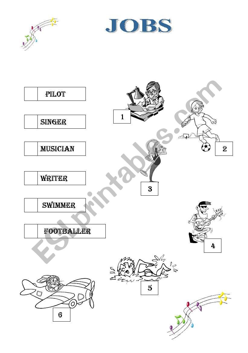 jobs worksheet