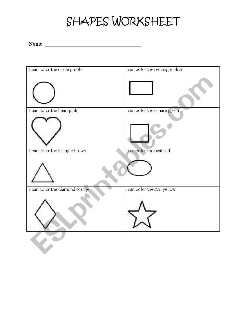 shapes worksheet esl worksheet by cccslp. Black Bedroom Furniture Sets. Home Design Ideas