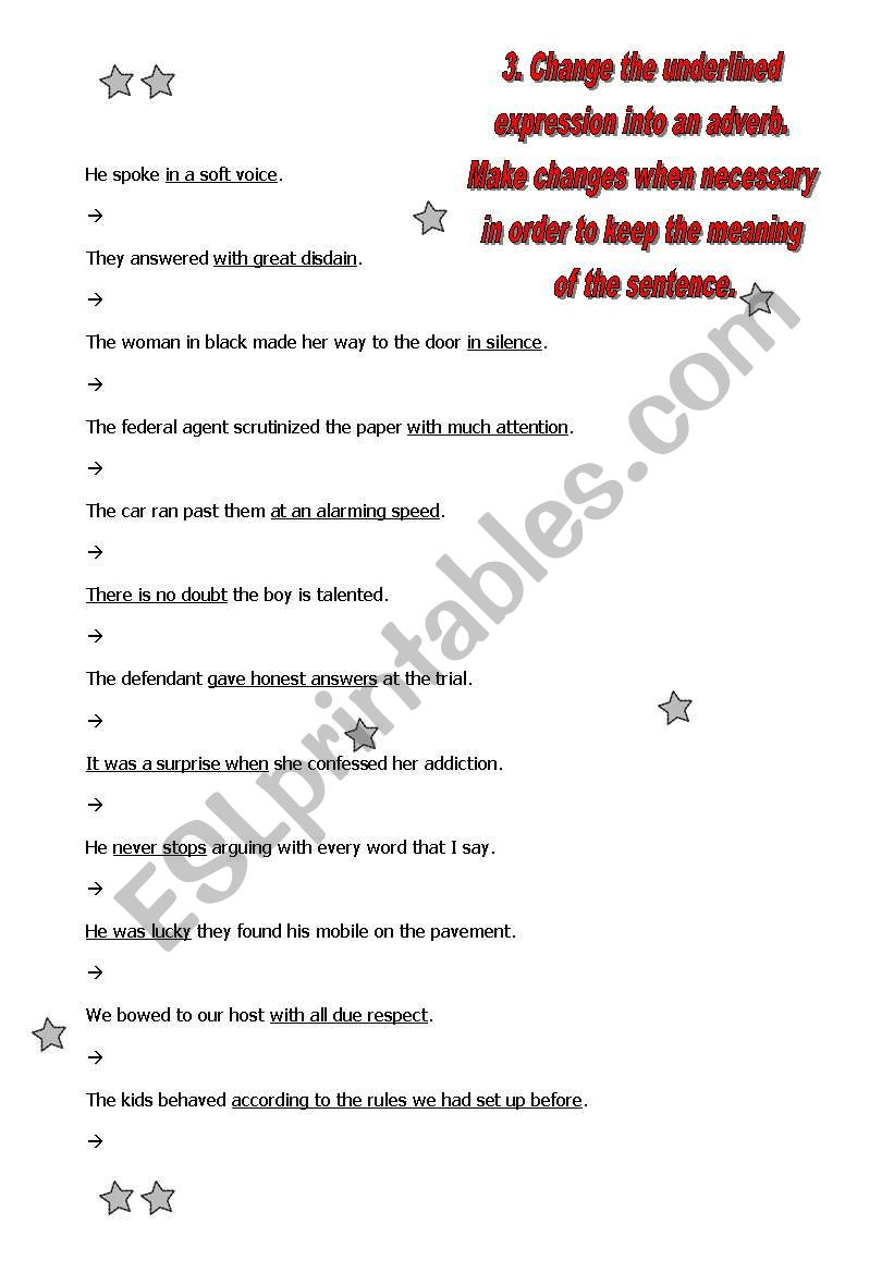 Adjectives and adverbs - word formation: guide + 5 exercises