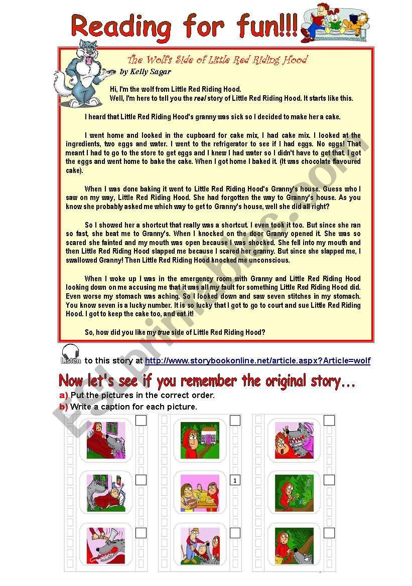 Reading for fun! worksheet