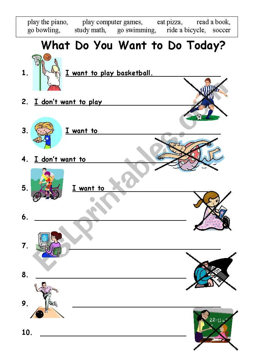 want to worksheet