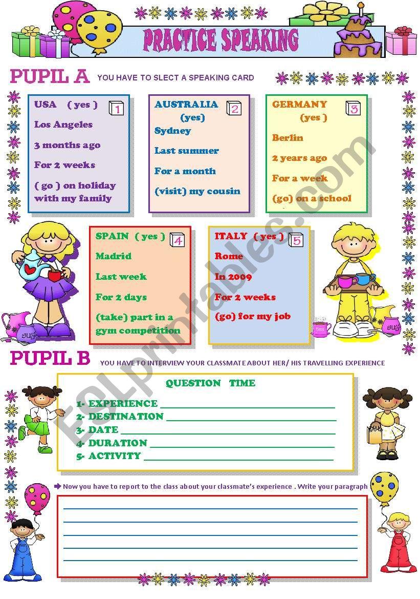 practice speaking worksheet