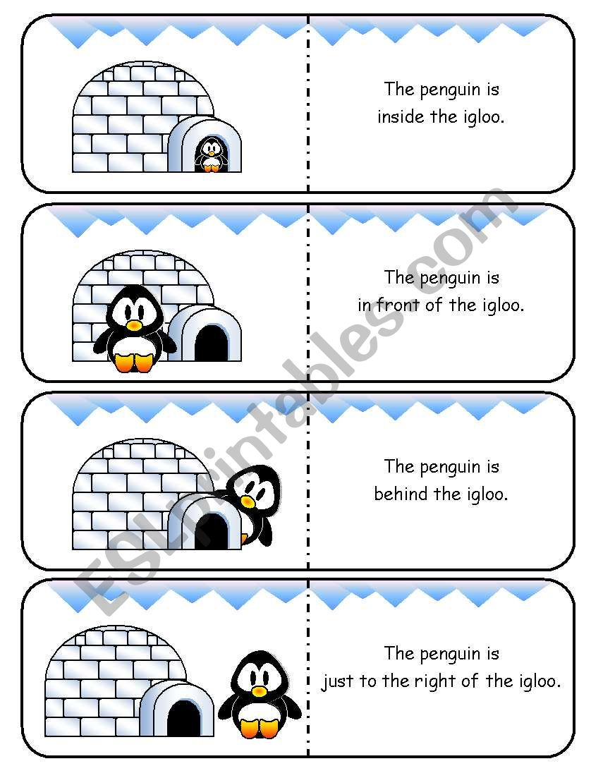 Where is the Penguin Preposition Dominoes and Memory Cards Part 1 of 2  (With Poster and Poem)