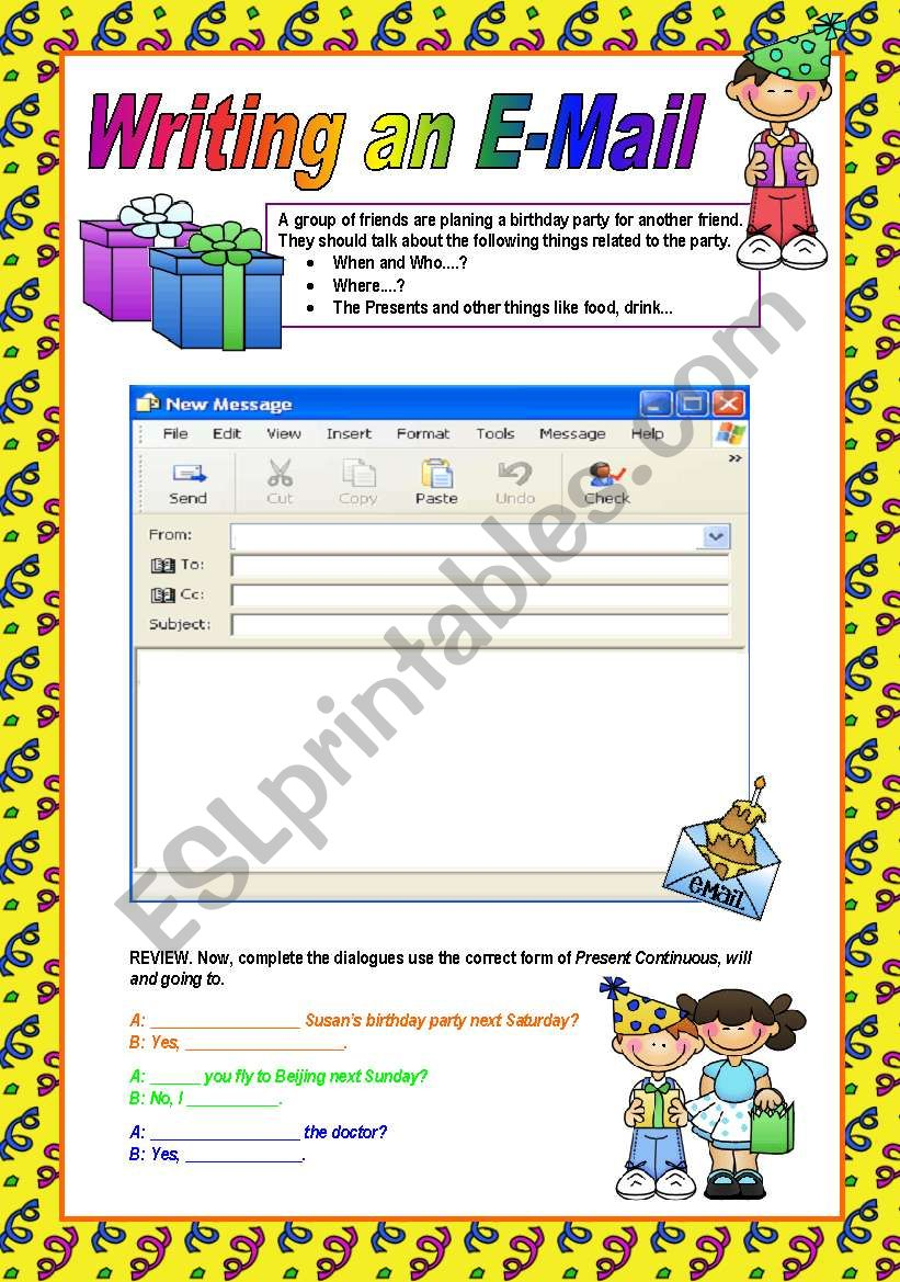 WRITING AN E-MAIL (writing series 01)