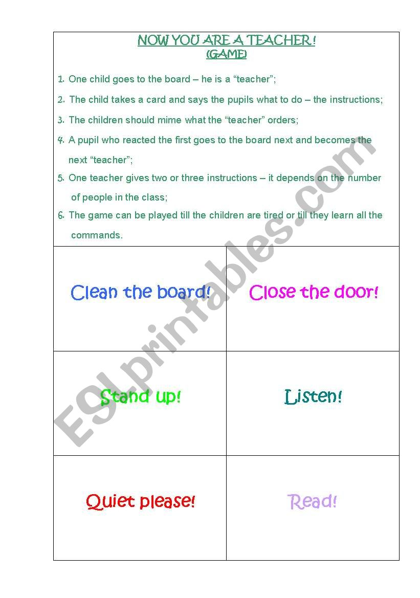 NOW YOU ARE A TEACHER!!! worksheet