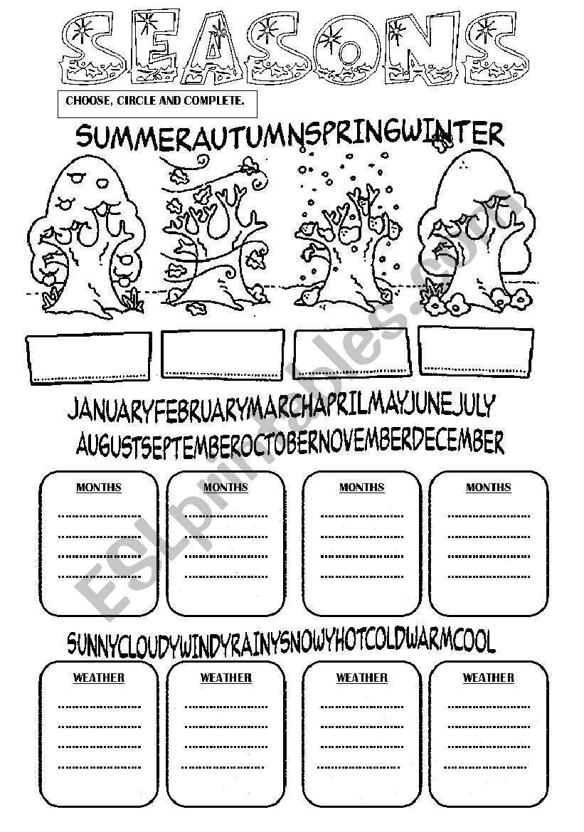 seasons months weather esl worksheet by fabiola salinas. Black Bedroom Furniture Sets. Home Design Ideas
