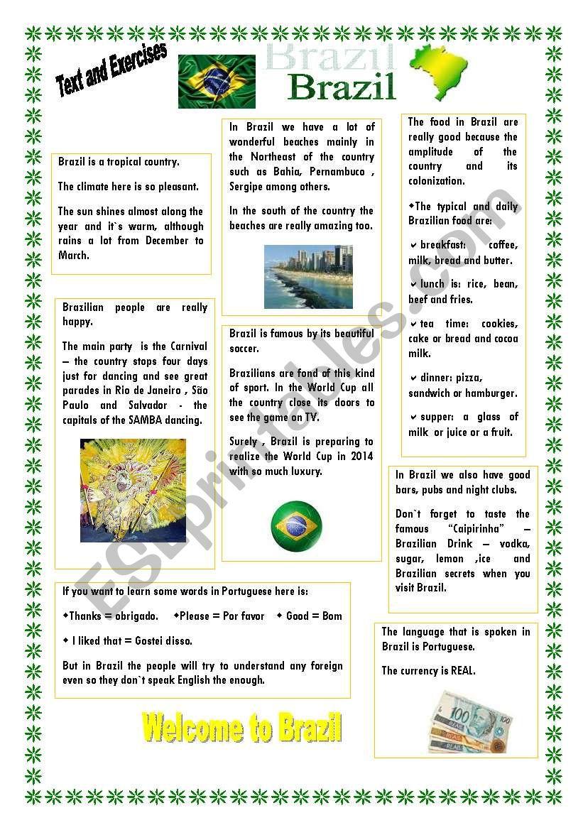 Brazil worksheet