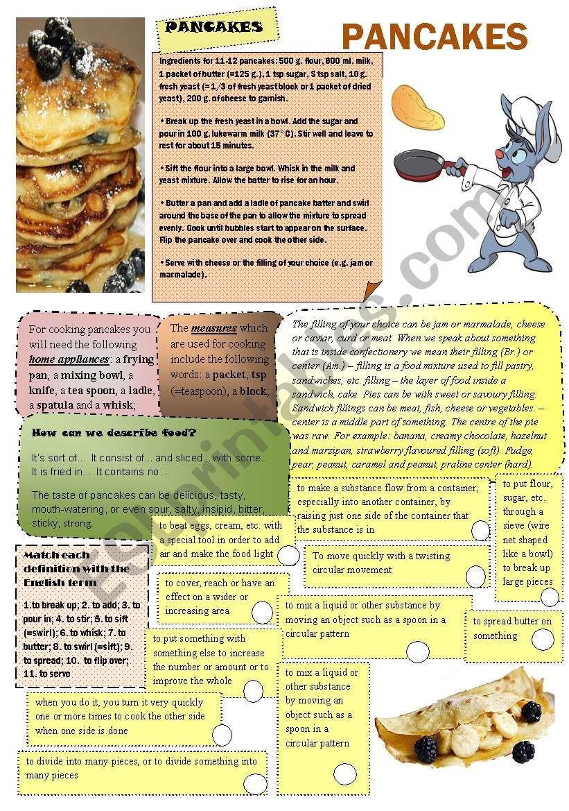 Pancakes worksheet