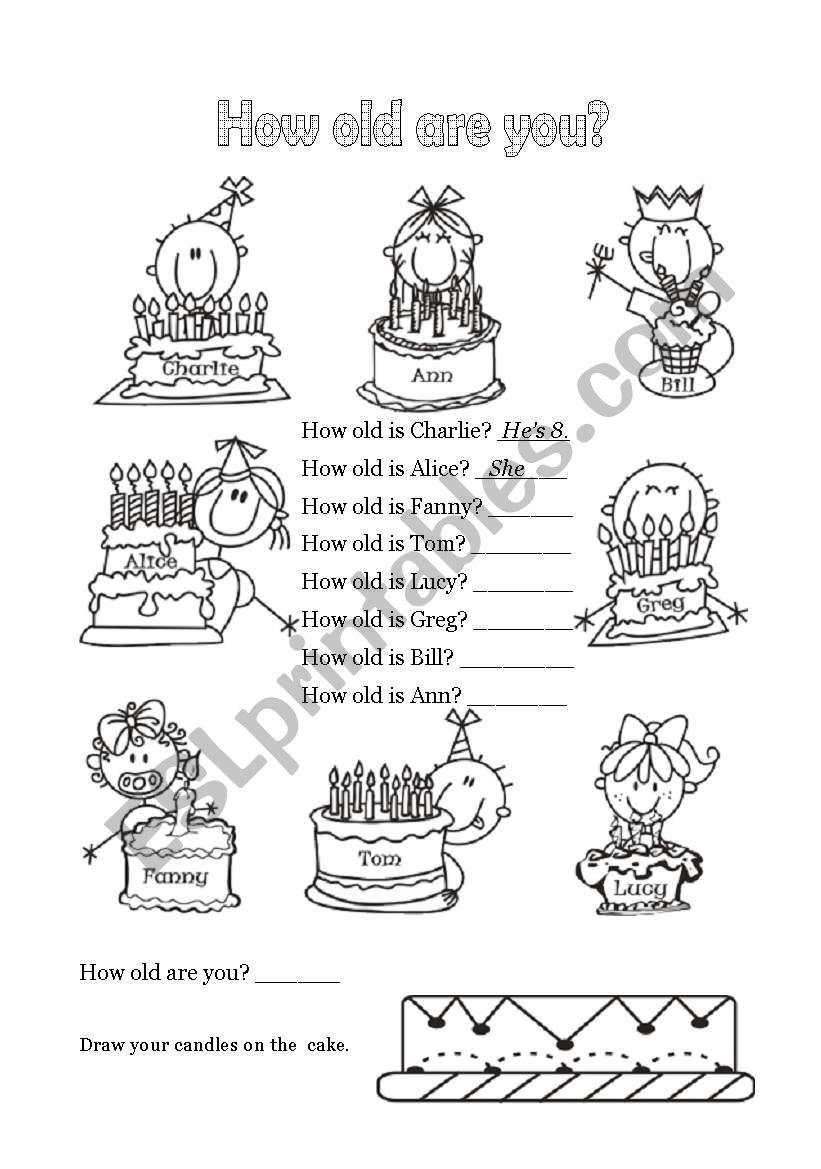Happy Birthday - 3 of 6 worksheet