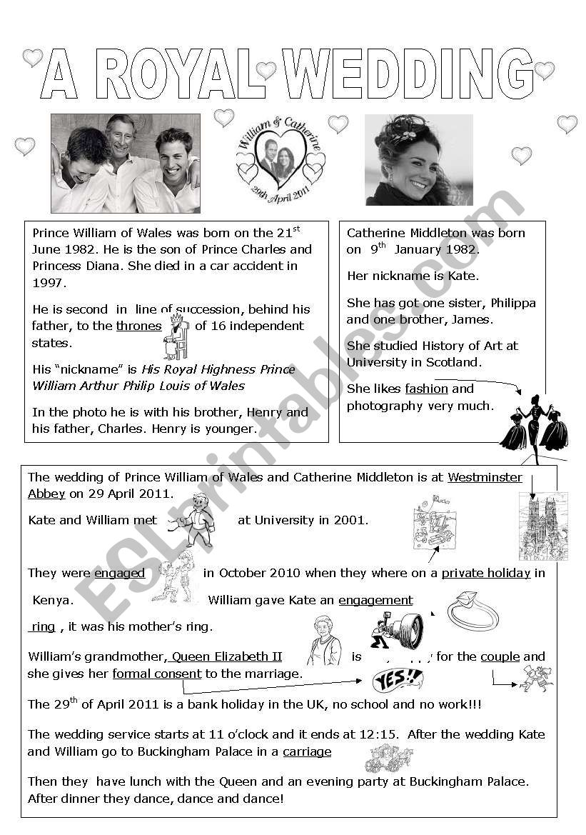 A royal wedding william and kate