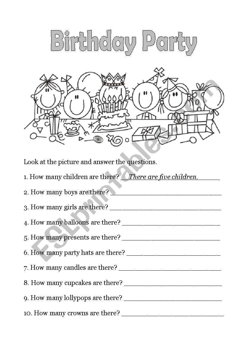 Happy Birthday - 4 of 6 worksheet